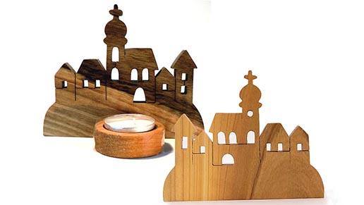 drevene dekorace-mestecko
